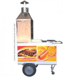 Carrinho de Churrasco e Hot Dog COMPLETO